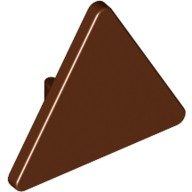 Reddish Brown Road Sign Clip-on 2 x 2 Triangle  4517594