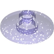 Glitter Trans-Purple Dish 2 x 2 Inverted (Radar)  6093752