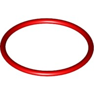 Red Rubber Belt Medium (Round Cross Section) - Approx. 3 x 3  4100396 or 4544143 or 4544145