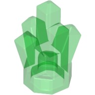 Trans-Green Rock 1 x 1 Crystal 5 Point  4541539 or 4655335