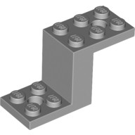 Light Bluish Gray Bracket 5 x 2 x 2 1/3 with 2 Holes and Bottom Stud Holder  6012653 or 6171067