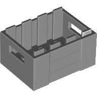 Light Bluish Gray Container, Crate with Handholds  6108560