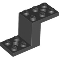 Black Bracket 5 x 2 x 2 1/3 with 2 Holes and Bottom Stud Holder  6012983 or 6171066