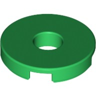 Green Tile, Round 2 x 2 with Hole  6074954