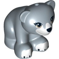 Sand Blue Bear Cub with Dark Tan Eyes, Black Nose and White Paws Pattern  6071286