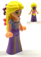 Rapunzel with 2 Flowers in Hair