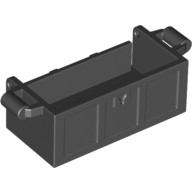 Black Container, Treasure Chest Bottom - Slots in Back  6101166