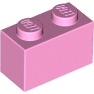 Bright Pink Brick 1 x 2  4245295 or 4517993