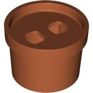 Dark Orange Minifig, Costume Flower Pot  6223908
