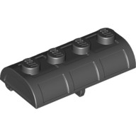 Black Container, Treasure Chest Lid - Thick Hinge  6101161