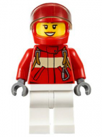 Paramedic - Pilot Female, Red Helmet