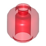 Trans-Red Minifig, Head (Plain) - Stud Recessed  6173950