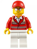 Paramedic - Red Uniform, Male, Red Short Bill Cap