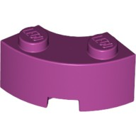 Magenta Brick, Round Corner 2 x 2 Macaroni with Stud Notch and Reinforced Underside  6192035