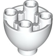 White Brick, Round 2 x 2 Dome Bottom with Studs  6151968