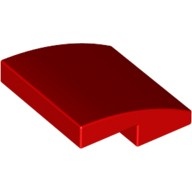 Red Slope, Curved 2 x 2 No Studs  6105976
