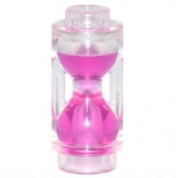 Trans-Clear Minifig, Utensil Hourglass with Trans Dark Pink Sand Pattern  6133831
