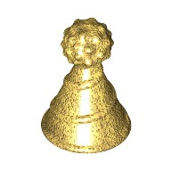 Pearl Gold Minifig, Hat with Pin Attachment, Party Hat  6220929
