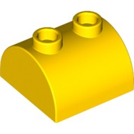 Yellow Brick, Modified 2 x 2 Curved Top with 2 Top Studs  4187061