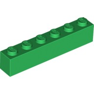 Green Brick 1 x 6  300928 or 4111844
