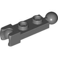 Dark Bluish Gray Plate, Modified 1 x 2 with Towball and Small Towball Socket on Ends  6039482