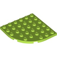 Lime Plate, Round Corner 6 x 6  6129601