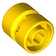 Yellow Wheel 11mm D. x 12mm, Hole Notched for Wheels Holder Pin  4170460