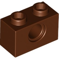 Reddish Brown Technic, Brick 1 x 2 with Hole  4211252