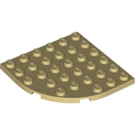 Tan Plate, Round Corner 6 x 6  4288370 or 6056484