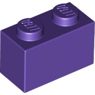 Dark Purple Brick 1 x 2  4224854 or 4640739 or 6104154