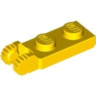 Yellow Hinge Plate 1 x 2 Locking with 2 Fingers on End  4183981