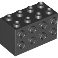 Black Brick, Modified 2 x 4 x 2 with Studs on Sides  4201520 or 4494850