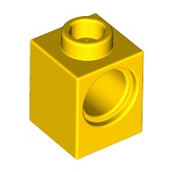 Yellow Technic, Brick 1 x 1 with Hole  654124