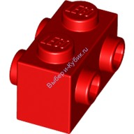Red Brick, Modified 1 x 2 with Studs on 2 Sides  4569056