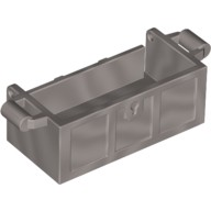 Flat Silver Container, Treasure Chest Bottom - Slots in Back  6125675