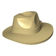 Tan Minifig, Headgear Hat, Wide Brim Outback Style (Fedora)  4540107