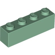 Sand Green Brick 1 x 4  4153765 or 4517378 or 4521947