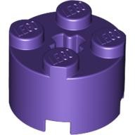 Dark Purple Brick, Round 2 x 2 with Axle Hole  4622176