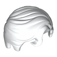 White Minifigure, Hair Swept Right with Front Curl  6213604