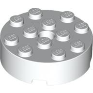White Brick, Round 4 x 4 with Hole  4558956