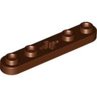 Reddish Brown Technic, Plate 1 x 5 with Smooth Ends, 4 Studs and Center Axle Hole  6035580