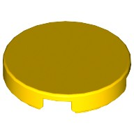 Yellow Tile, Round 2 x 2 with Bottom Stud Holder  6078279