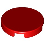 Red Tile, Round 2 x 2 with Bottom Stud Holder  6066342