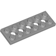 Light Bluish Gray Technic, Plate 2 x 6 with 5 Holes  4211542