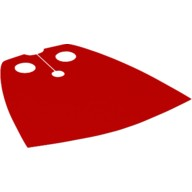 Red Minifig, Cape Cloth, Standard - Traditional Starched Fabric  4143210 or 4543048 or 4552503 or 4667764