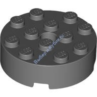 Dark Bluish Gray Brick, Round 4 x 4 with Hole  4558959