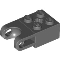 Dark Bluish Gray Technic, Brick Modified 2 x 2 with Ball Receptacle Wide and Axle Hole  4619760