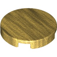 Pearl Gold Tile, Round 2 x 2 with Bottom Stud Holder  6066345