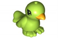 Lime Bird, Friends with Bright Light Orange Beak and Black Eyes Pattern  6038017 or 6107993