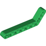 Green Technic, Liftarm 1 x 9 Bent (7 - 3) Thick  6218109